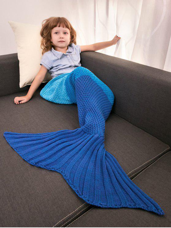 2018 Manta Para Bebé Bloque Color Punto Crochet Tejida Diseño Sirena ...