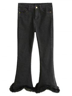 Ninth Fuzzy Flare Jeans - Black Xl
