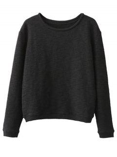 Sweat En Coton De Grande Taille - Noir