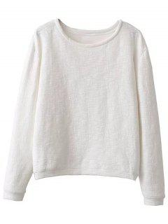 Sweat En Coton De Grande Taille - Blanc