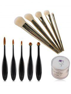 Makeup Brushes And Air Puffs - Black