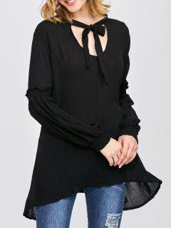 Balloon Sleeve Loose Top - Black S
