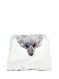 Fox La Piel De Imitación Del Bolso De Crossbody - Blanco