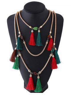 Multilayer Tassel Pendant Necklace