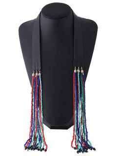 Faux Leather Beads Necklace