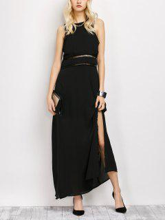Slit Cut Out Prom Dress - Black S