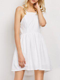 Puffball Backless Prom Dress - White S