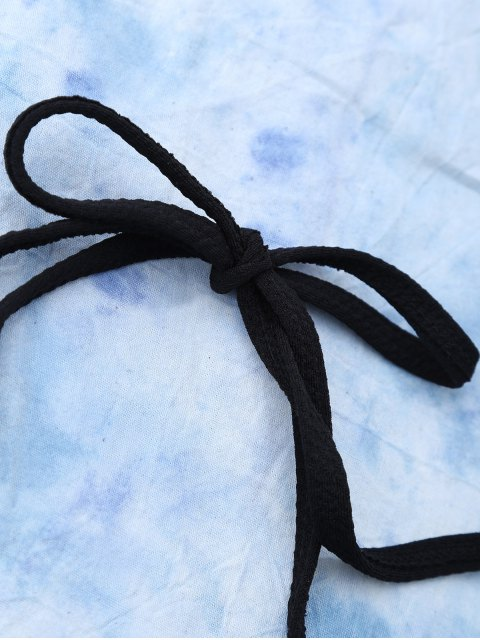 hot High Rise Halter Scalloped Bathing Suit - BLACK M Mobile