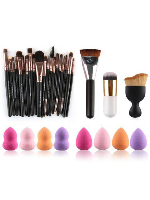 Pinceaux de maquillage et éponge de beauté - Multicolore  Mobile