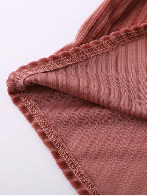 new Ruffles Corduroy Blouse - RED ONE SIZE Mobile