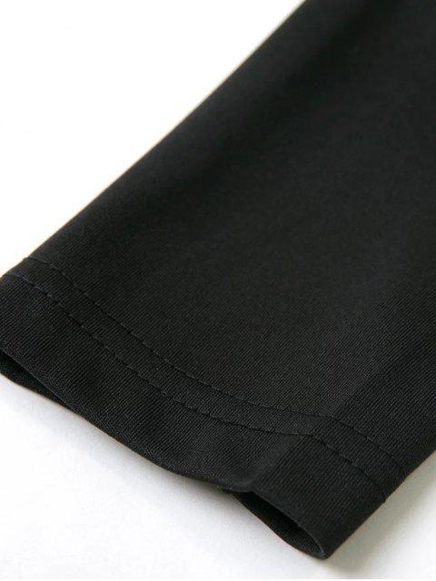 shop Long Sleeved Off The Shoulder Top - BLACK S Mobile