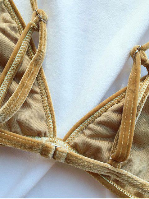 outfits Velvet Reversible Bikini Set - BLONDE #613 S Mobile