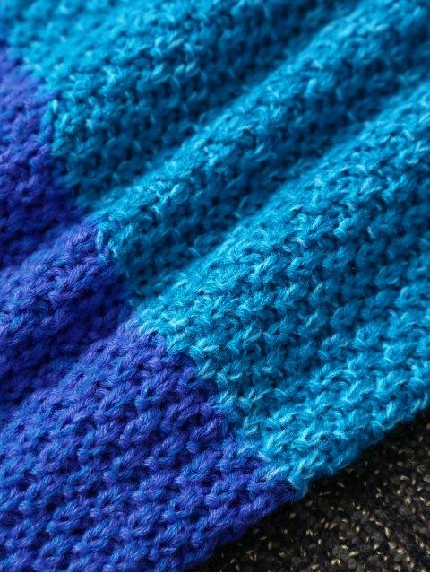 ladies Color Block Knit Kids' Mermaid Blanket Throw -   Mobile