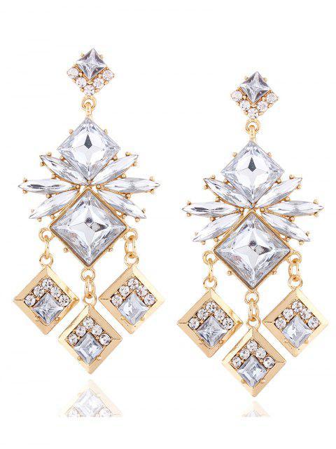 chic Rhinestone Square Dangle Earrings -   Mobile