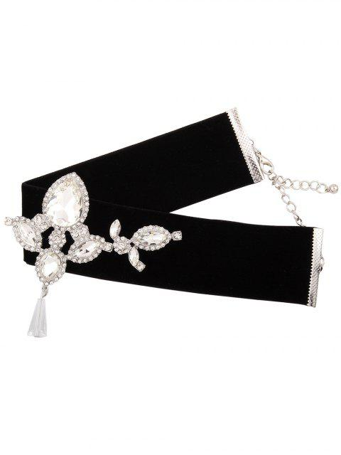 best Water Drop Rhinestone Velvet Choker -   Mobile