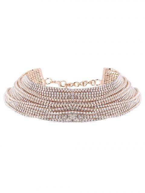 shop Rhinestone Layered Necklace -   Mobile
