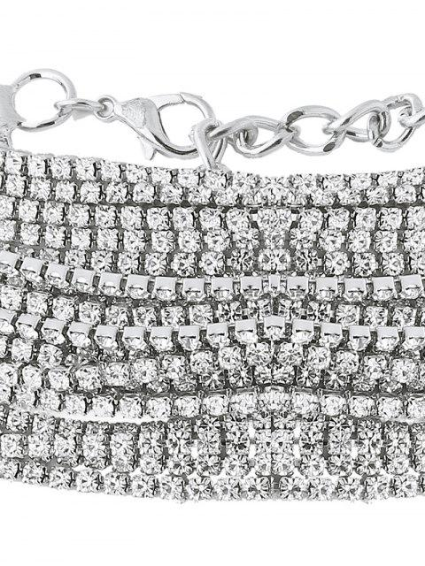 shops Rhinestone Layered Necklace -   Mobile