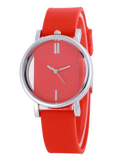new Analog Silicone Wrist Watch -   Mobile