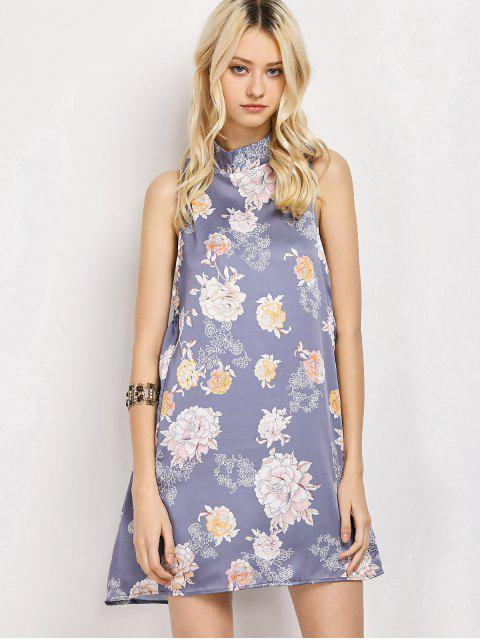 ladies Sleeveless Flower Swing Dress - FLORAL 2XL Mobile