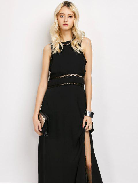womens Slit Cut Out Prom Dress - BLACK XL Mobile
