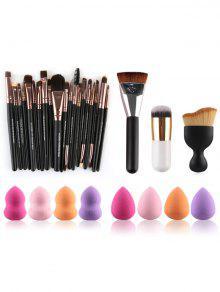 Pinceles De Maquillaje De Belleza Y Licuadoras