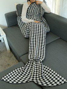 هوندتوث تصميم محبوك التفاف رمي حورية البحر الذيل بطانية - أسود