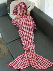 هوندتوث تصميم محبوك التفاف رمي حورية البحر الذيل بطانية - أحمر