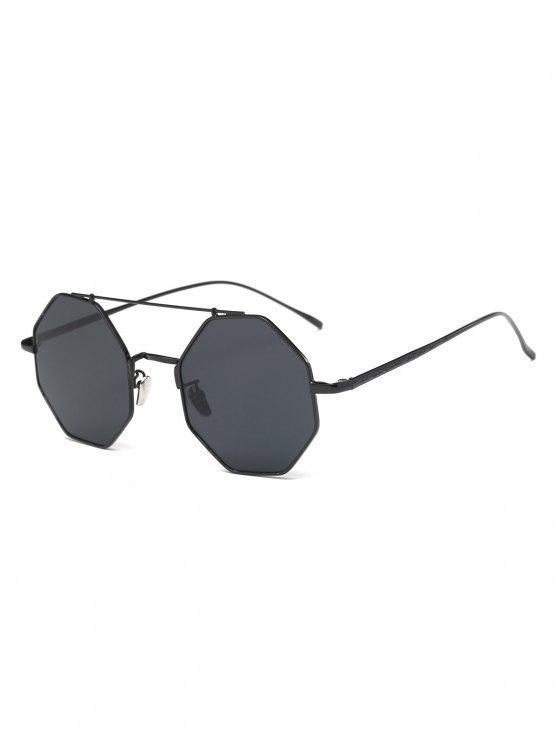 Gafas De Sol Diseño Retro Marco Metálico Poligonal - Negro