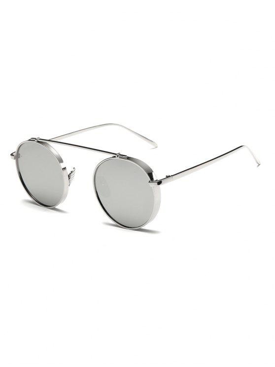 3e4c82bf03f60 20% OFF  2019 Chunky Frame Round Mirrored Sunglasses In SILVER ...