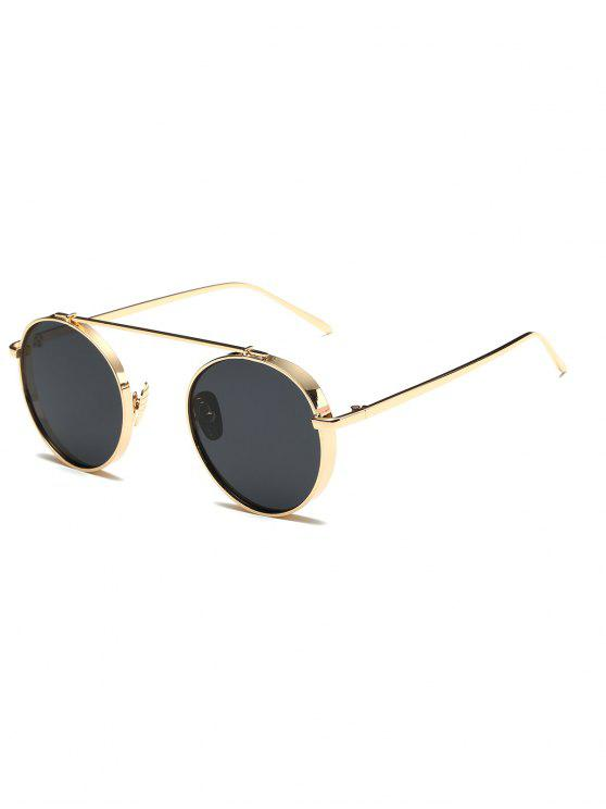lady Chunky Frame Round Sunglasses - GOLDEN