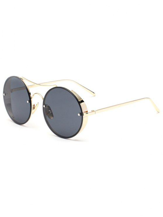 affordable Chunky Round Frame Sunglasses - BLACK