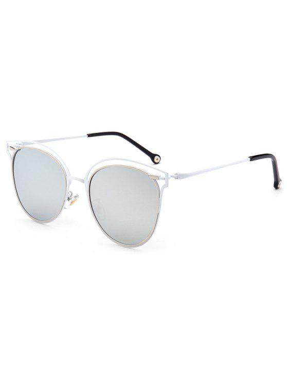 3c84adc8c5 24% OFF  2019 Double Rims Cat Eye Mirrored Sunglasses In SILVER