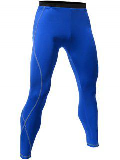 Quick Dry Breathable Tight Stitching Gym Pants - Royal L