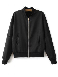 Lightweight Zip Bomber Jacket - Black S