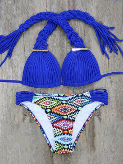 Argyle Tressé Bikini - Bleu S