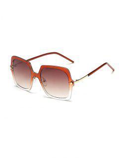 Ombre Rims Square Sunglasses - Tea-colored