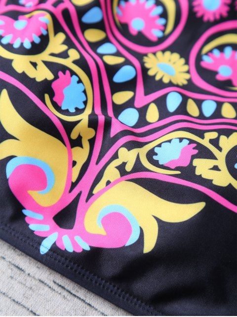 shop High Neck Bikini Top and Bottom - BLACK L Mobile