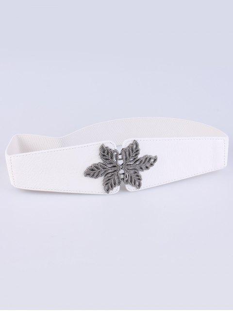 fancy Vintage Floral Elastic Belt - WHITE  Mobile