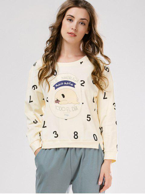 online Number Tee with Pants Loungewear - PALOMINO XL Mobile