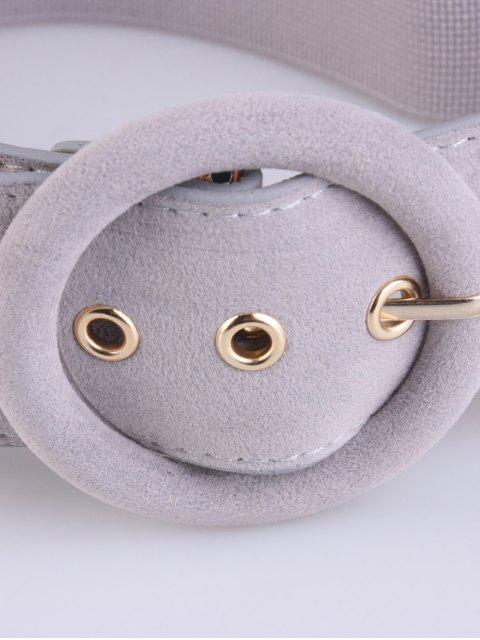 lady Pin Buckle Elastic Belt -   Mobile
