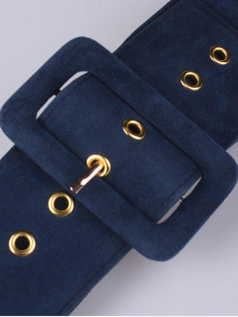 fashion Wide Elastic Belt - BLUE  Mobile