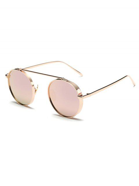 buy Chunky Frame Round Mirrored Sunglasses -   Mobile