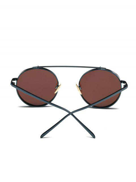 women's Chunky Frame Round Mirrored Sunglasses - ICE BLUE  Mobile