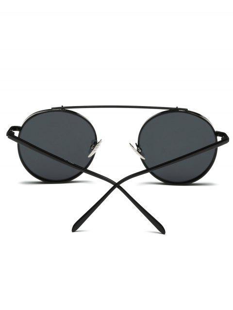 ladies Chunky Frame Round Sunglasses - BLACK  Mobile