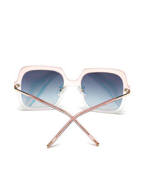 new Ombre Rims Square Mirrored Sunglasses -   Mobile