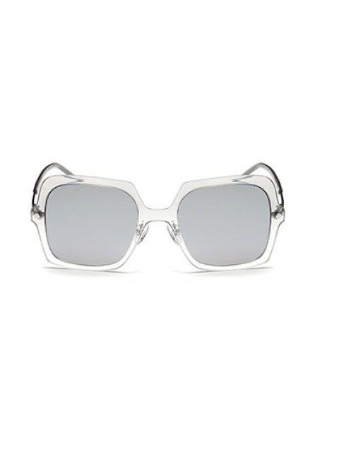 hot Ombre Rims Square Mirrored Sunglasses -   Mobile