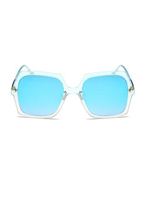 outfit Ombre Rims Square Mirrored Sunglasses -   Mobile