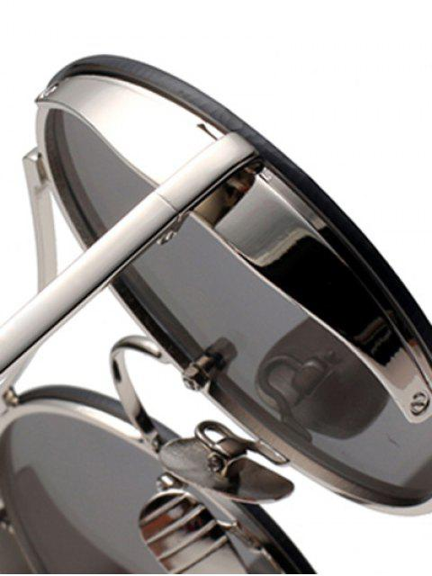 buy Chunky Round Frame Sunglasses - DEEP PURPLE  Mobile