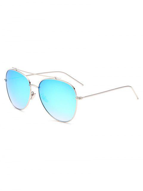 women's Crossbar Pilot Mirrored Sunglasses - ICE BLUE  Mobile