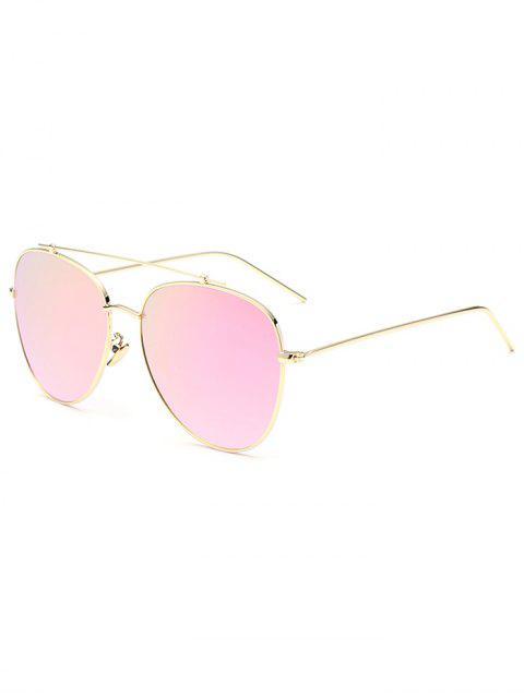 lady Crossbar Pilot Mirrored Sunglasses - PINK  Mobile